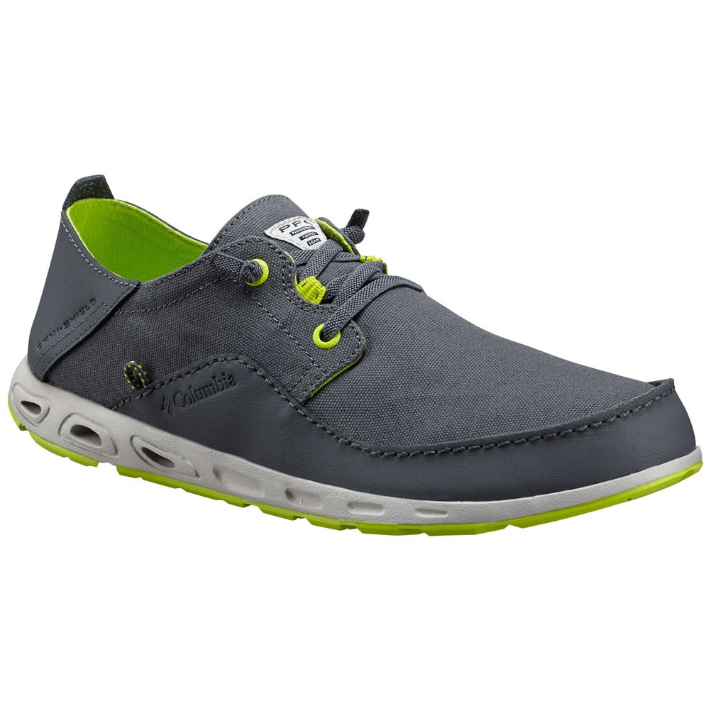 Columbia Men's Bahama Vent Relaxed PFG Leather Casual Boat Shoes B07B6V693F 10.0 Graphite-Fission