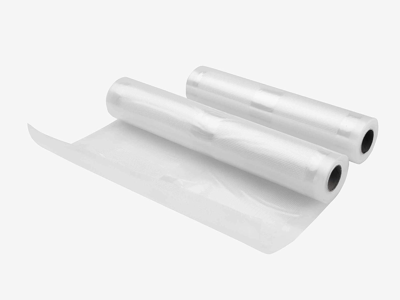 Lacor, Bobinas de tubo de plástico 69052, 2 unidades, 28 cm x 5m / 22 cm x 5m (105 micras)