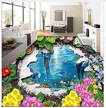 Papel Pintado 3D Para Pintar En El Suelo Jardín Ocean 3D Papel Tapiz Para El Baño En 3D Cuarto De Baño Impermeable 200x140cm: Amazon.es: Bricolaje y herramientas