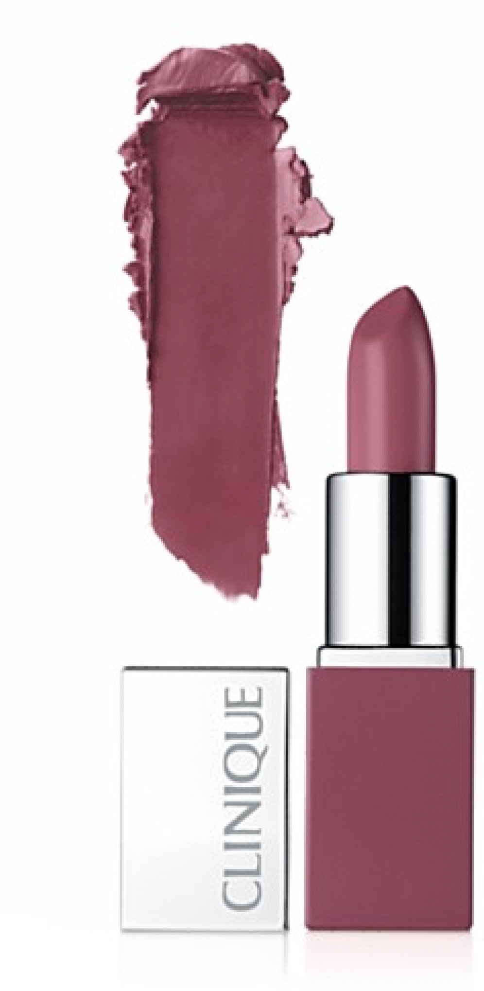 Clinique Pop Lip Colour + Primer. #14 Plum Pop, Deluxe Travel Size, .08 oz