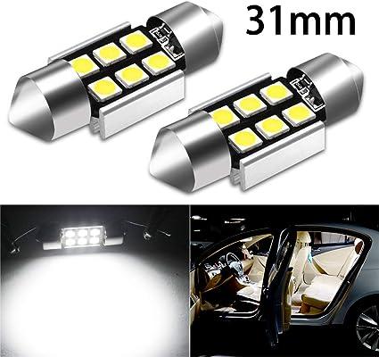 KaTur 39mm Festoon C5W Led Bulbs 6000K White Light Super Bright Chipsets Canbus Error Free for 6411 6413 6423 6461 DE3425 DE3423 Interior Dome License Plate Door Lights 4pcs,White