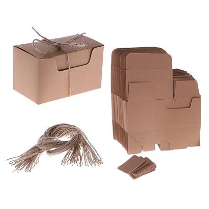 Homyl 50 Unids Cajas de Regalo de Papel Artesanía Galletas para Pastel Caramelo Partido Boda Caja