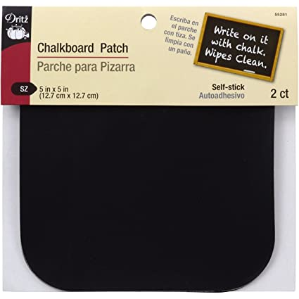 Amazon.com: Dritz 55281 Patches, Self Stick, Chalkboard ...