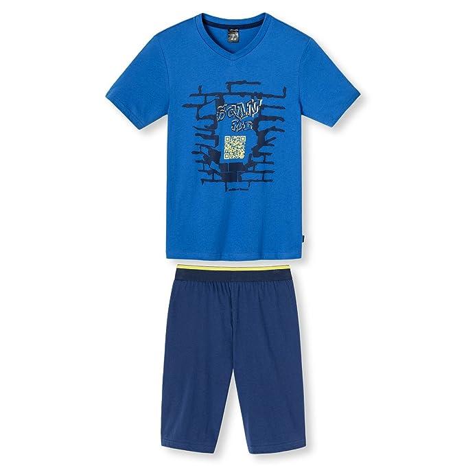 Schiesser Joven Dos Piezas Traje de dormir Traje corto Azul azul