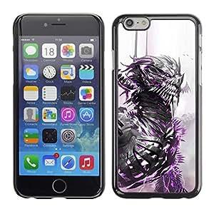 PC/Aluminum Funda Carcasa protectora para Apple Iphone 6 Dragon Warrior White Watercolor Monster / JUSTGO PHONE PROTECTOR