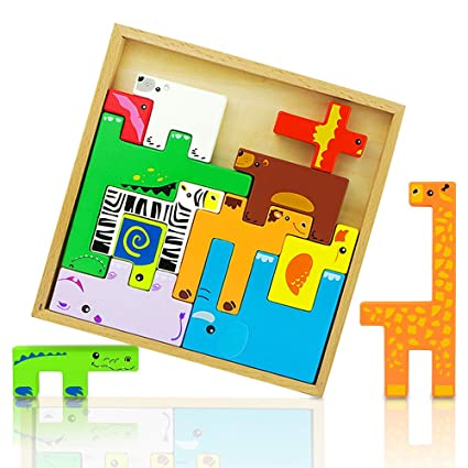 Home & Garden Kids Educational Alphabet Puzzle Cartoon Animal Wooden Puzzle Brain Game Birthday Holiday Gifts
