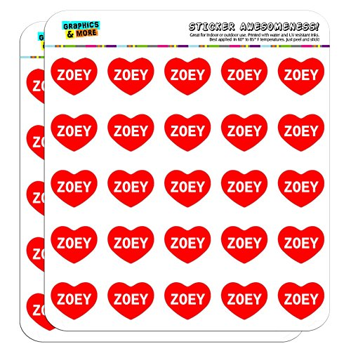 Graphics and More I Love Heart Zoey Planner Calendar Scrapbooking Crafting Stickers - 50 1