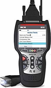 INNOVA CarScan Pro 5610 OBD2 Car Code Scanner - BiDirectional Scan Tool & Professional OBD2 Code Reader - Car Diagnostic Tool with Free RepairSolutions2 App - All Systems Scanner