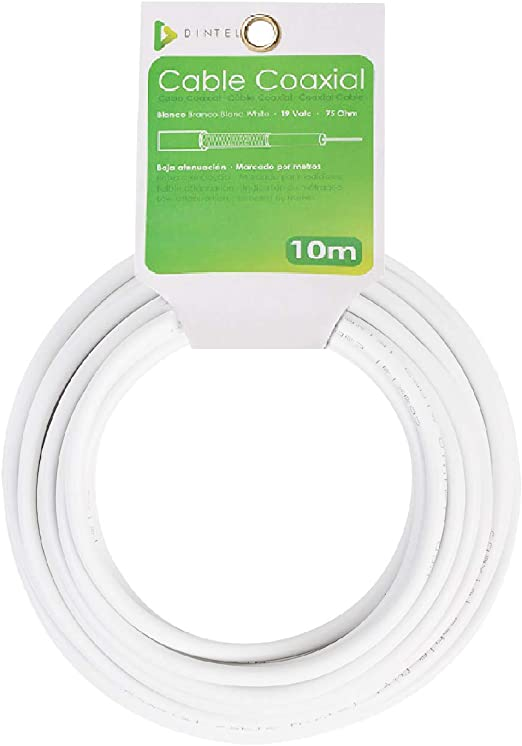 Dintel - Bobina Cable Coaxial 10m: Amazon.es: Electrónica