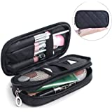 Makeup Brush Cosmetic Organizer Portable 2 layer Mini Makeup Pouch Holder Preminm Nylon makeup Case with Mirror for Travel Perfect Gift for Women Girls