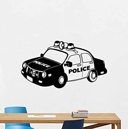 Police Car Wall Decal Police Vehicle Vinyl Sticker Police Cruiser Wall Art  Police Station Design Wall