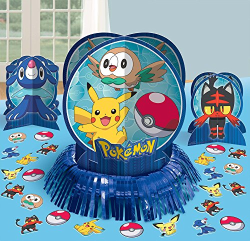 Amscan Pokemon Table Decorating Kit, Party Favor -