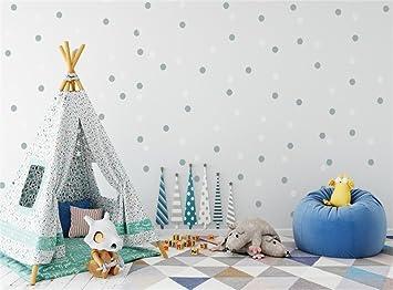 Leowefowa Vinyl 9X6FT Happy Birthday Backdrop Cute Toys Sofa Pine Trees Dots Wallpaper Tent Carpet Marble