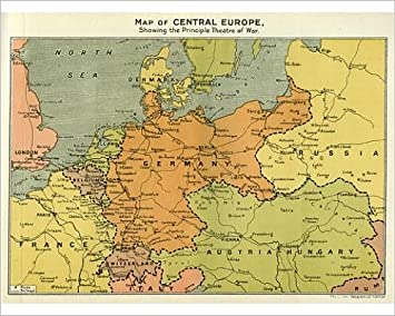 Amazon.com: Photographic Print of Map of Central Europe, World War ...