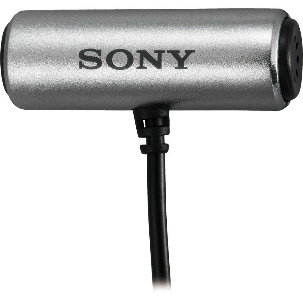 Sony ECMCS3 Tie Clip style Omnidirectional Stereo Microphone + Microfiber Cloth + Cleaning Bundle