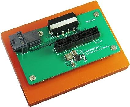 Micro SATA Cables PCI-e 4-Lane to M.2 /& Mini SAS HD PCI-e I//F Adapter SFF-8643