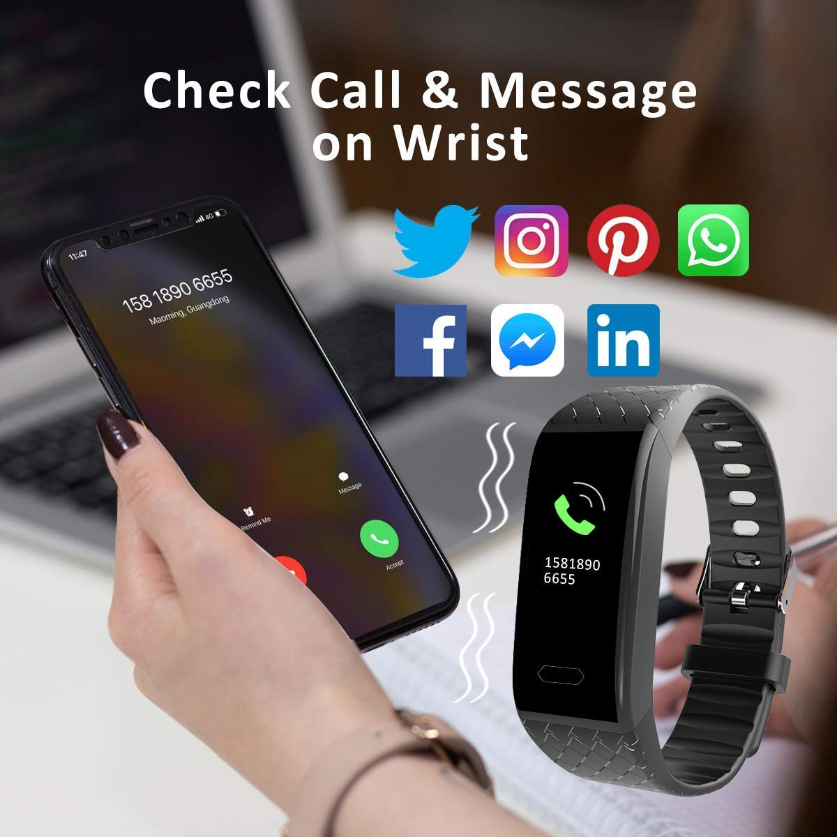 Reloj Inteligente, ISENPENK Smart Watch Pulsera Pantalla táctil Hombres Mujeres Niños,Pulsómetro, Monitor de Ritmo Cardíaco, Contadores de Calorías, ...