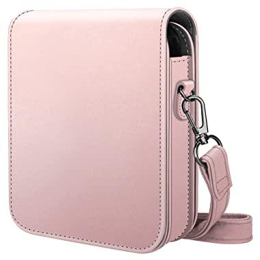 Fintie Protective Case for Polaroid POP 2.0 2 in 1- Premium Vegan Leather Bag Cover with Removable Strap for Polaroid POP 2.0 3x4 Instant Print Digital Camera, Rose Gold