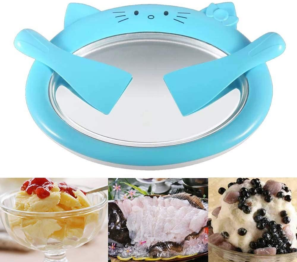 MEETWAY Ice Cream Maker/Pan/Roll Instant Ice Cream Maker Yogurt Frozen Pan Ice Roll Time Pan for Healthy Homemade Rolled Ice Cream Frozen Yoghurt