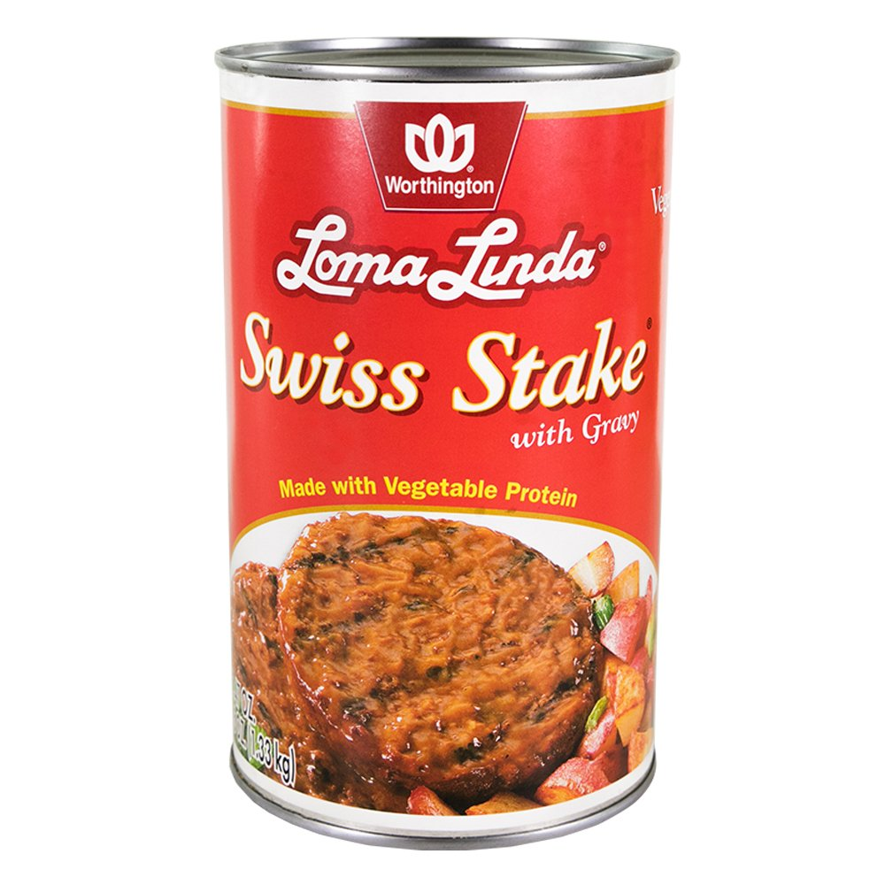 Loma Linda - Vegetarian - Swiss Stake with Gravy (47 oz.) - Kosher by Loma Linda