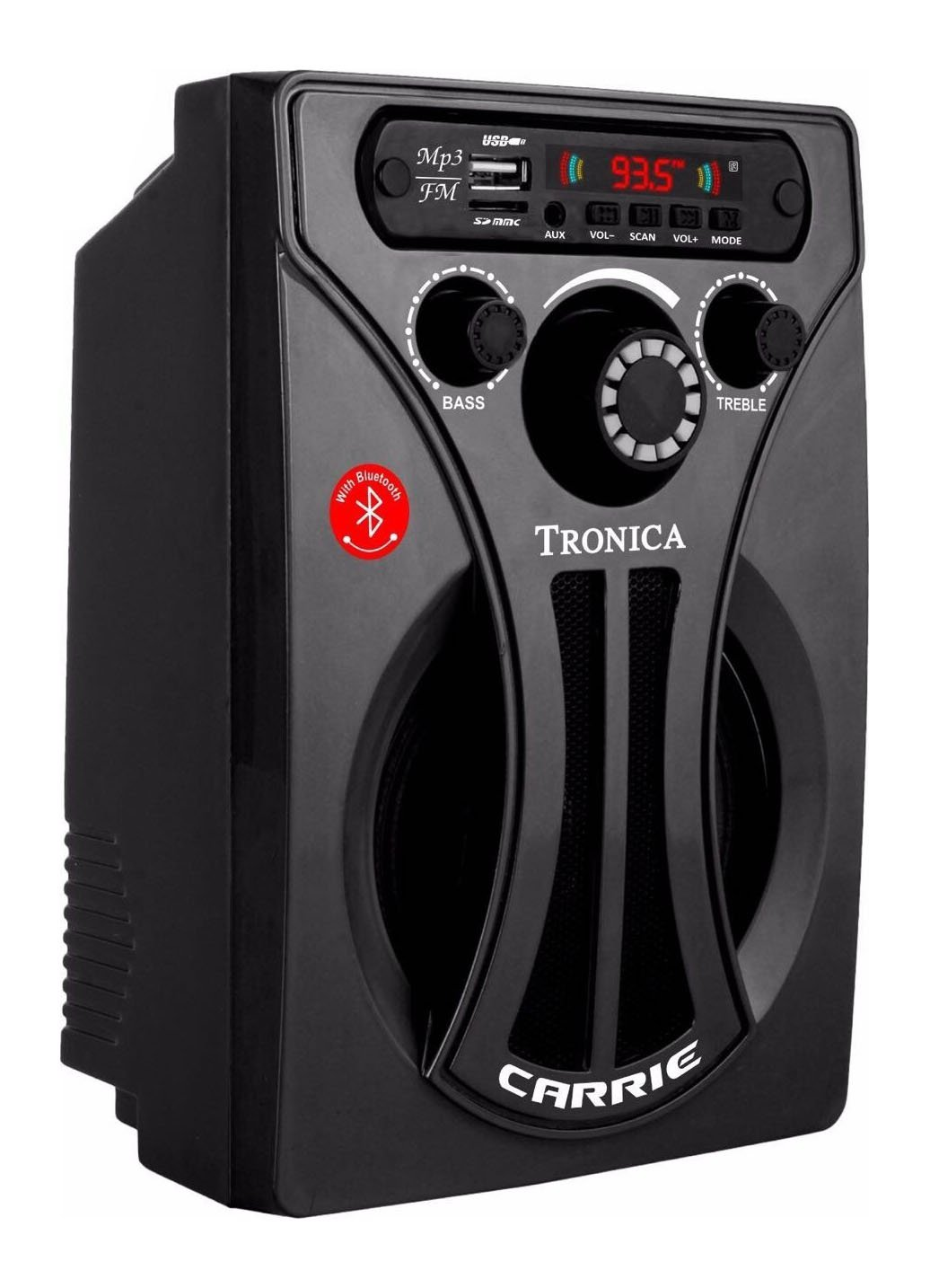 Tronica Carrie Bluetooth Speaker with Remote (Black)
