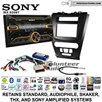 Volunteer Audio Sony WX-920BT Double Din Radio Install Kit with Bluetooth, Pandora, and SiriusXM Ready For 2010-2012 Fusion (Black)