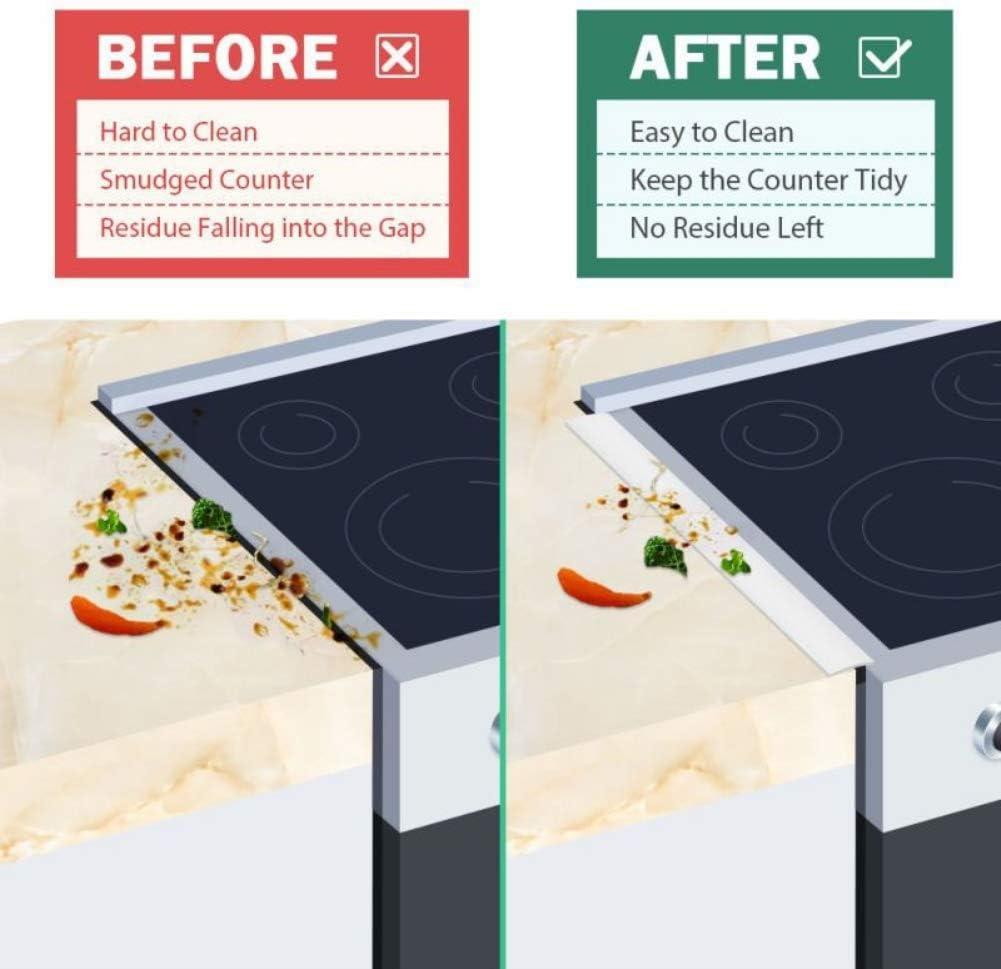 Guarnizioni termoresistenti tra il bancone Riempimento spazi vuoti Mrinb Coperchio divario contatore stufa Strisce di riempimento silicone cucina il forno il piano cottura