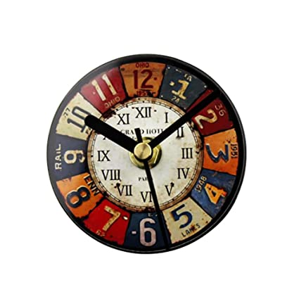 LIU-Etiquetas engomadas magnéticas Reloj de pared redondo Reloj de campana de frigorífico - Pintura