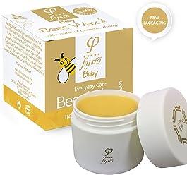 Natürliche und Biologische Reine Bienenwachs Windelcreme - Nappy Cream – Baby Feuchtigkeitscreme - Hergestellt aus Natürlichen Inhaltsstoffen – 50ml – Bietet Schutz und Feuchtigkeit - Nicht-allergene Feuchtigkeitsspende – Heilmitten – Beruhigt und Schützt Trockene, Raue, Rissige Und Gereizte Haut und Hinterlässt den Anwendungsbereich Glatt und weich. – Erzeugt eine Weichmachende Schicht, Um die Haut vor Feuchtigkeit Zu Schützen