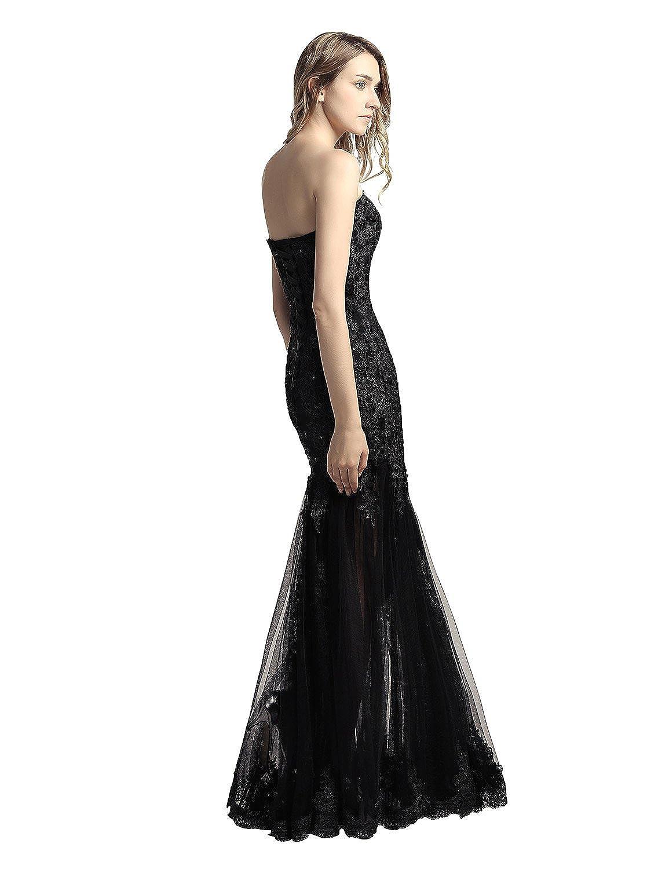 9da87e7d Amazon.com: Belle House Women's Long Tulle Strapless Ball Gown Lace Formal  Evening Dresses: Clothing