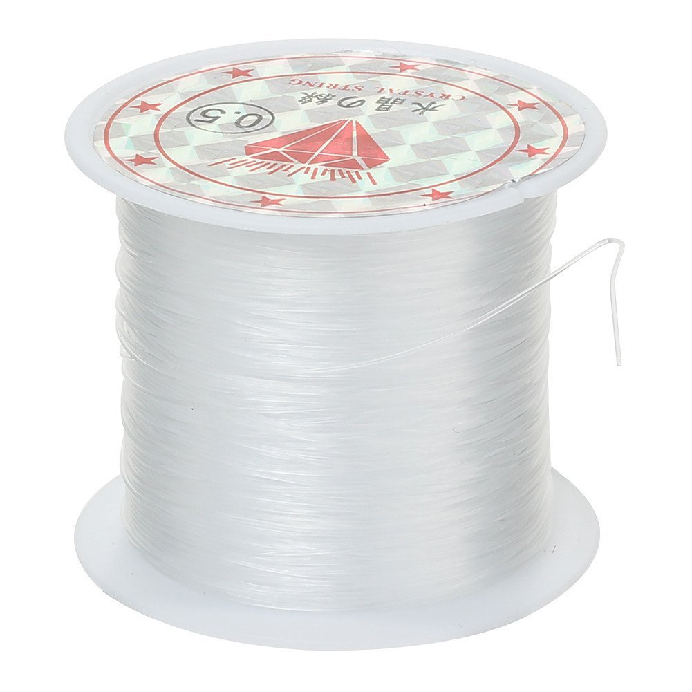 Phizhi/Â/®0.5mm Jewelry Bracelet Crystal String Cord 22m Roll Clear White