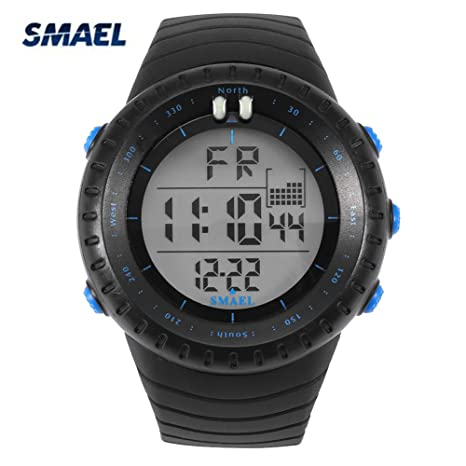 Reloj deportivo digital, 4Colors SMAEL Digital LED Back Light reloj de pulsera deportivo redondo electrónico