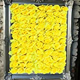 """Artificial 24"""" X 16"""" Inches Yellow Flower Panel. Suggested Uses Include Backdrop Photography, Garden Decor, Wedding Decorations, Flower Crafts and Landscaping."""