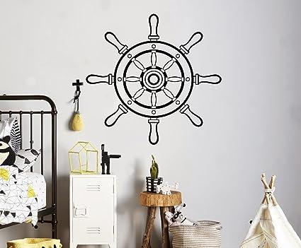 nautical wall decor ideas marine steering wheel wall vinyl decal ship sea nautical sticker home art decor ideas amazoncom
