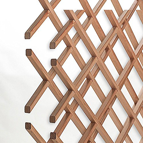 American Pro Decor 14-Bottle Trimmable Wine Rack Lattice Panel Inserts in Unfinished Solid North American Cherry (Racks Maple Wine)