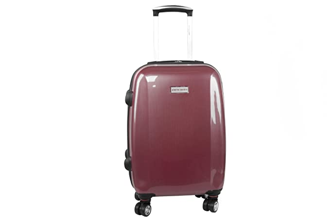 Maleta rígida PIERRE CARDIN rojo mini equipaje de mano ryanair S296