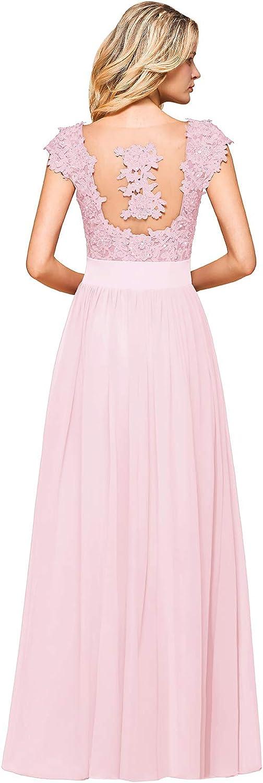MisShow Damen Festlich Brautjungfernkleider Ballkleider Abendkleid Maxilang