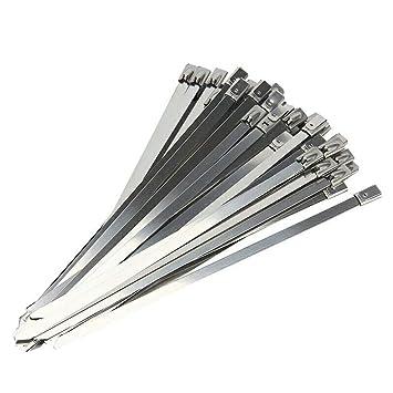 100 Piezas de Cable de Acero Inoxidable Bridas metálicas ...