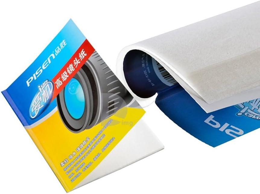 50 hojas de limpieza suave Tejido Óptica de lente de cámara limpia toallitas de papel booklebj