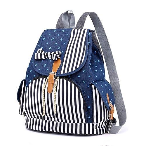 VHVCX Forme a mujeres mochilas de muy buen gusto Denim Escuela Mochila los bolsos para los adolescentes con asas Hombres Mochilas Mujer, una: Amazon.es: ...