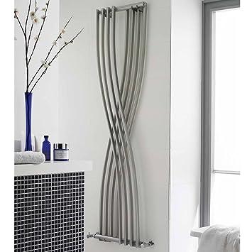 Hudson Reed Design Heizkörper Vertikal aus Stahl - Xite Silber ...