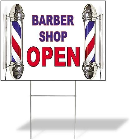 Amazon.com: Señal destino barbería abierta # 1 al aire ...
