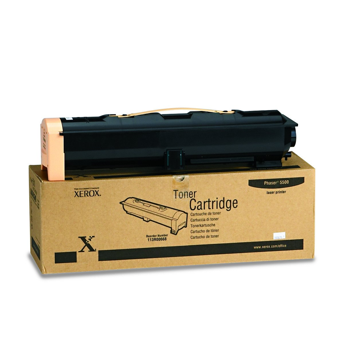 Genuine Xerox Black Toner Cartridge for the Phaser 5500, 113R00668