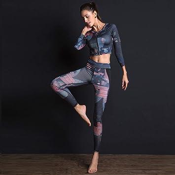 MAOMEI Conjunto de Ropa de Yoga, Traje de Tres Piezas ...