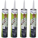 Dicor 551LSD-1 Non-Sag, Non-Leveling, Lap Sealant, Dove Bright White (4 Pack)