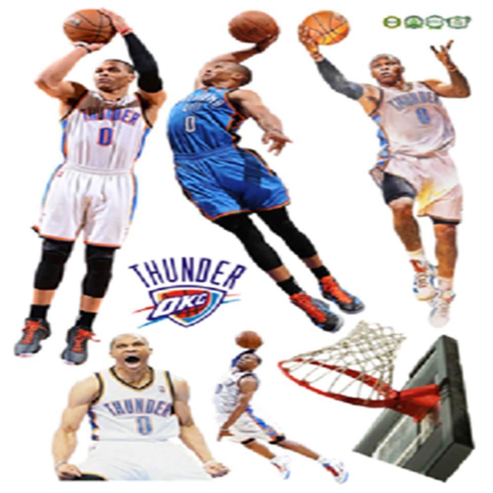 Nba Star Kobe Kobe Curry Adhesivos de pared Baloncesto Star James ...