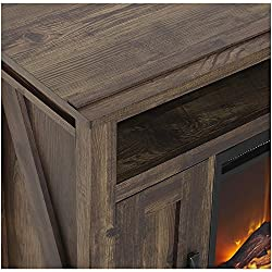 "Ameriwood Home Farmington Electric Fireplace TV Console for TVs up to 60"", Rustic from Ameriwood Home"