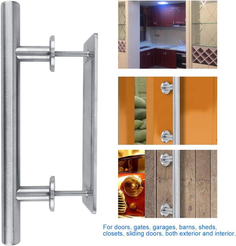 Juego de manijas redondas de metal para puerta de granero con cerradura deslizante Juego de manija para puerta de granero para el dormitorio Cuarto de baño Cobertizo Cobertizo Kit de hardware(2 #):