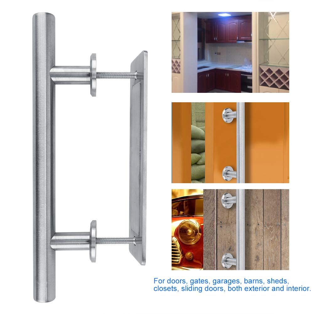 Negro Jeffergarden Tirador de Puerta de Granero Redondo de Metal Cerradura para Dormitorio Cuarto de ba/ño Armario Puerta de cobertizo