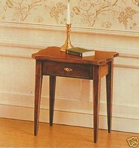 House of Miniatures Hepplewhite Serpentine Table #40036 (C. 1780-1800) - Dollhouse Furniture